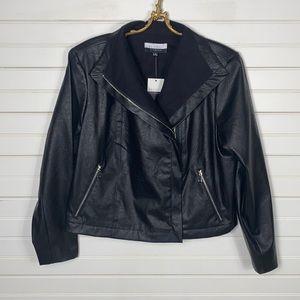 Eloquii Elements Faux Leather Jacket Size 18